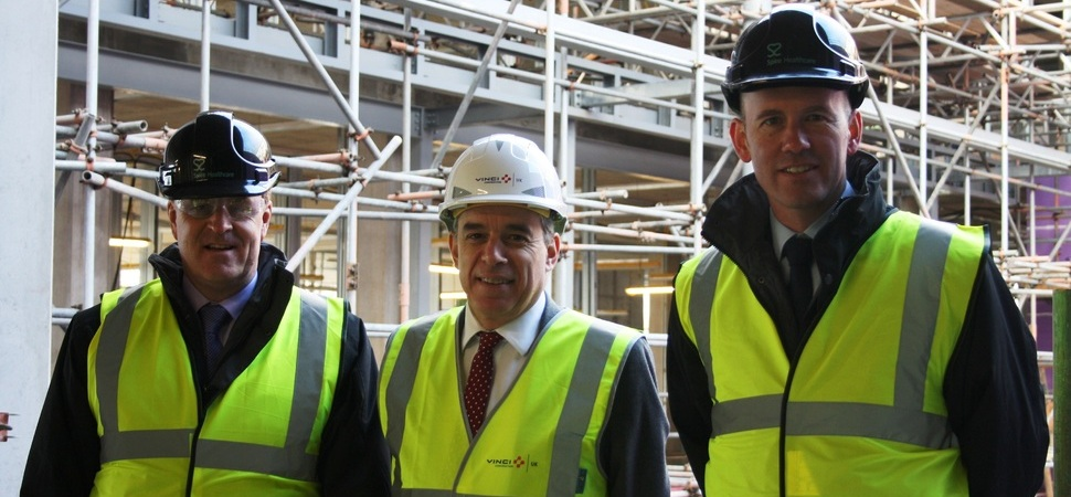 Spire Healthcare invites MP to site of new Manchester hospital development