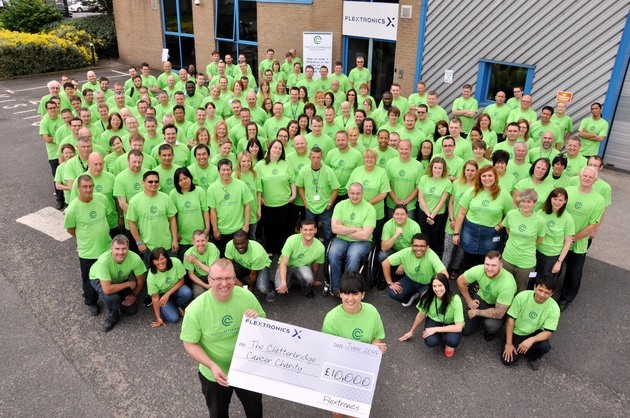 Clatterbridge Cancer Centre benefits from £10,000 Flextronics donation
