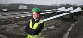 Wind turbine deliveries on track at Clocaenog Forest Wind Farm