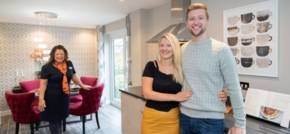 Engagement as couple move to new home in Hyde