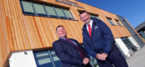 Wynne celebrates completion of new Management Centre for Coleg Cambria