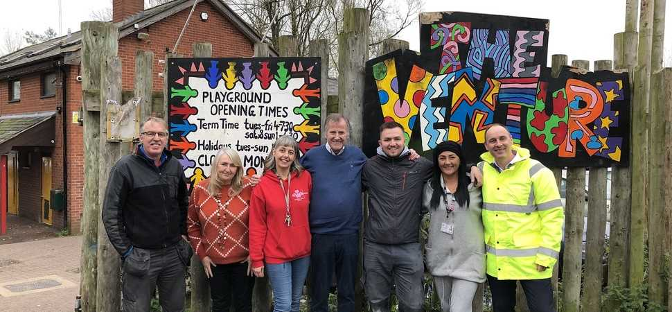 Wrexham community groups score support from building contractor