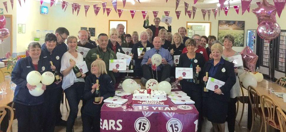 Supermarket celebrates long serving staff