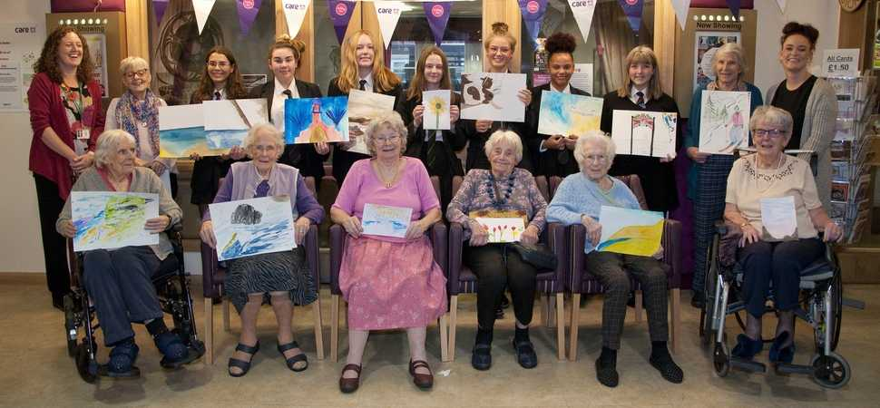 Down to a fine art  Ramsey Academy students join Halstead care home for the worlds largest drawing festival