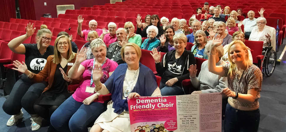 Local councillor sings the praises of Halstead care homes dementia-friendly choir