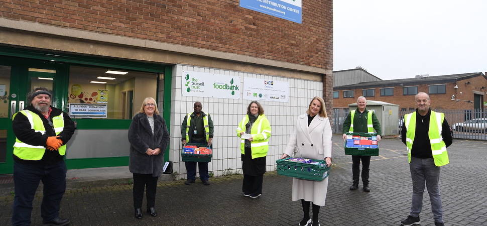 Midlands-based retailer's £6k donation to food banks