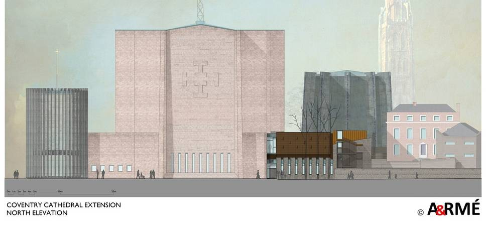New pavilion at Coventry Cathedral to be ready for UK City of Culture
