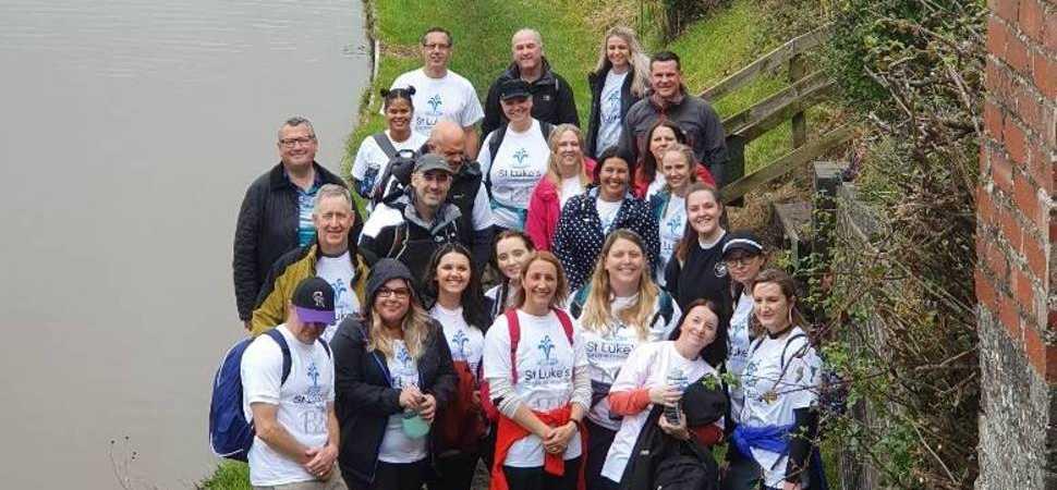 Charity walk raises over £2,100 for St Luke's Hospice