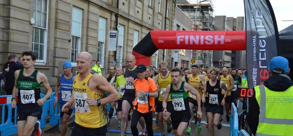 Streets come alive for Big Stockport Run