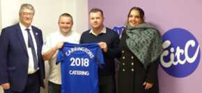 Carringtons Catering 'kicks off' partnership with Everton in the Community