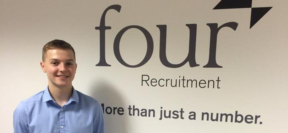 Four Recruitment Appoints its First Apprentice as a Permanent Employee
