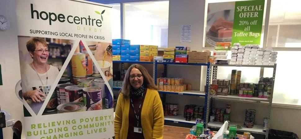 Derby foodbank praises local housebuilder for kind donation