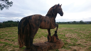Sculpture of rescued Anglesey horse Dexter to go on display in Nottinghamshire