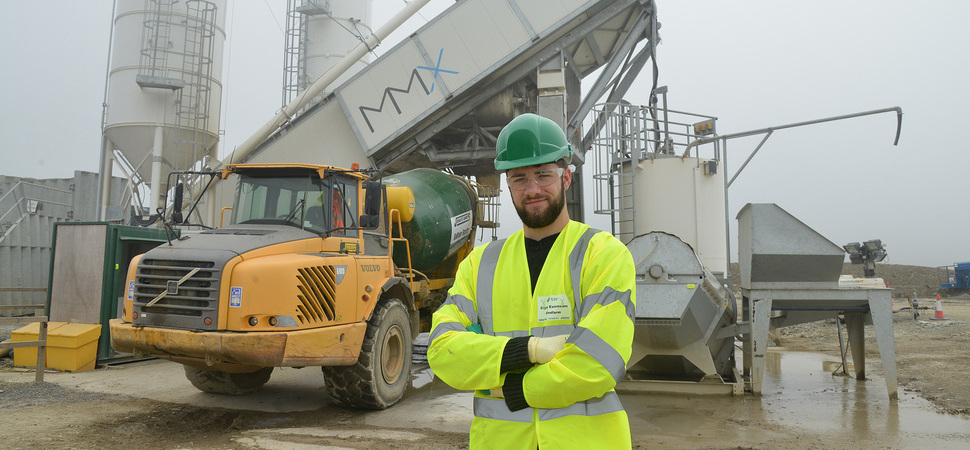 Apprentice Dylan forges career in civil engineering after chance meeting