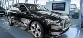 An electric atmosphere at Teesside Audi as new e-tron rolls into town