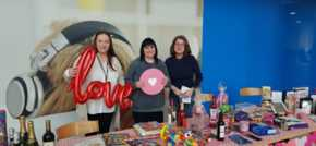 EDF Energy Staff Show Their Love For Breast Cancer Charity