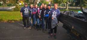 EDF Energy's Force for Good Team cleans up Barnes Park