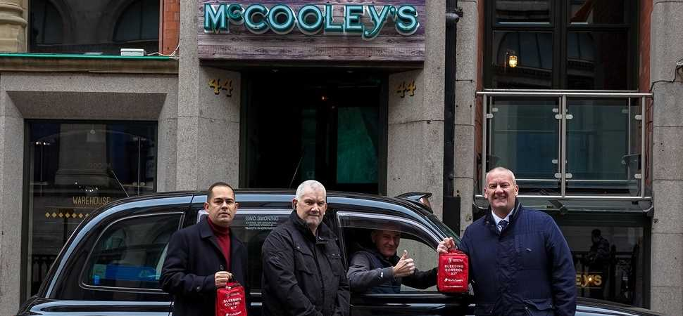 Cabbies back life-saving scheme to help victims of knife crime in Liverpool.