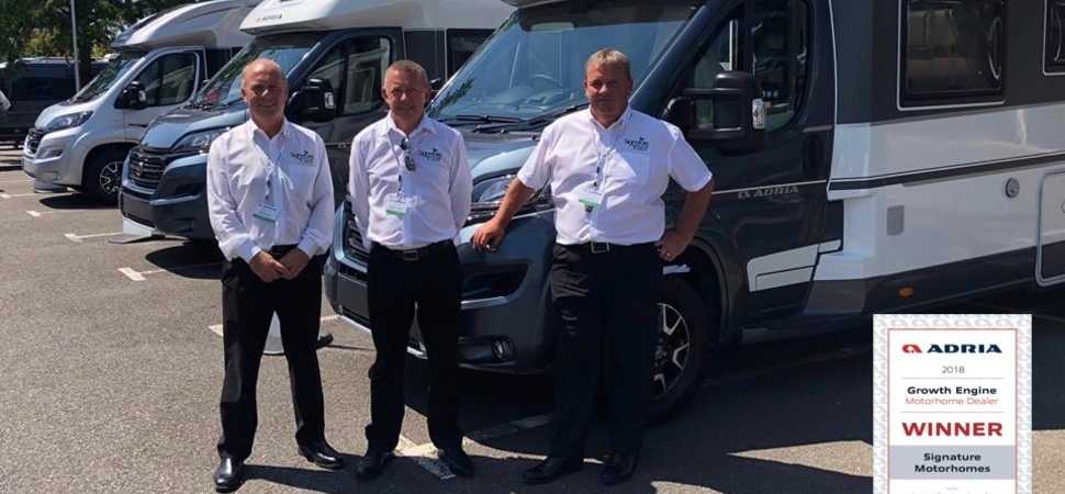 Preston Based Signature Motorhomes celebrate a very successful year with Adria