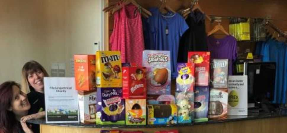 Family charities benefit from Dunfermline health club Easter egg collection