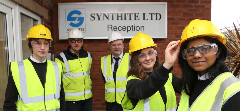 High-flying students see science in action at Mold chemicals plant