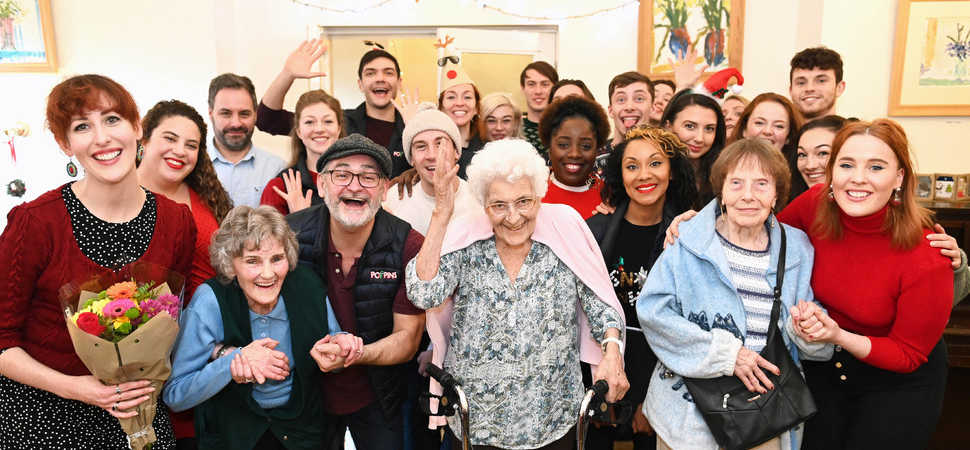 Christmas extravaganza  residents treated to a taste of West End at Enfield care home