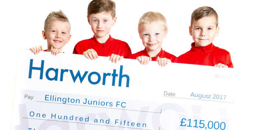 Harworth donation enables new facilities at Ellington Juniors Football Club