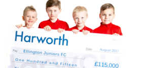 Harworth donation enables new facilities at Ellington Juniors Football Club