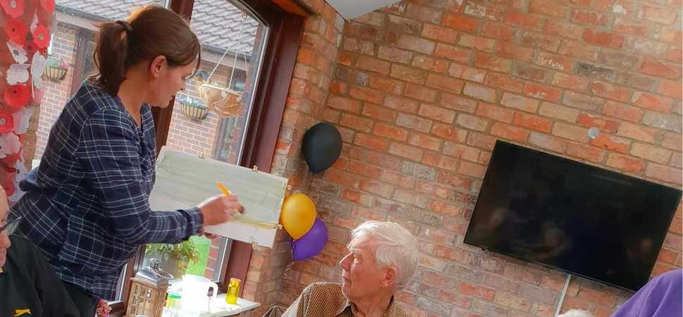 Watercolour painting course brings learning into the care home