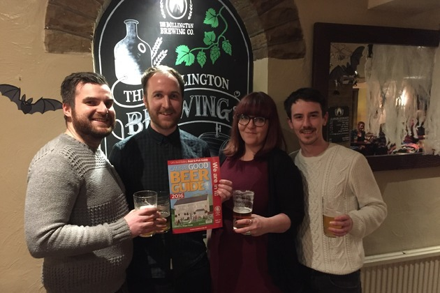 The Bollington Brewing Co. secures a trio of listings in The Good Beer Guide