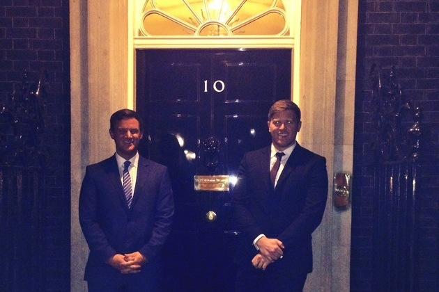 Founders of Hampson Hughes Solicitors attend reception at 10 Downing Street