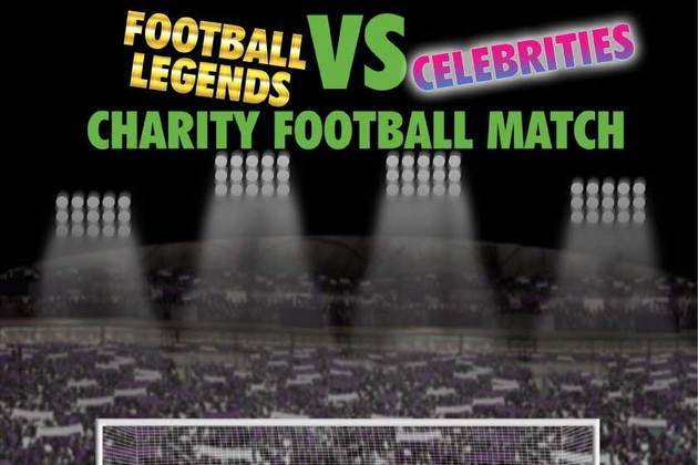 Football Legends Take On Celebrities For Charity
