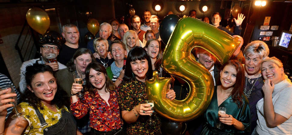 High five for media and PR company that hits a milestone birthday