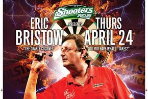 Shooters Sports Bar in The Printworks plays host to darts legend Eric Bristow
