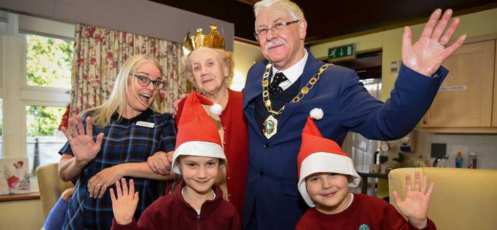 Shropshire school pupils spread festive cheer at residential home