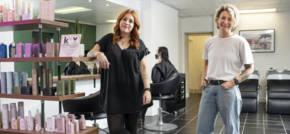 Green Highlights at Hair Salon