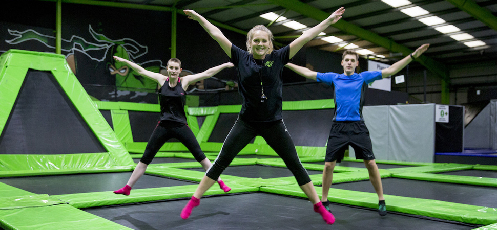 Jump into shape at Flip Out Southampton