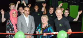 Mayor of Sandwell opens new £1m Flip Out trampoline park in Oldbury