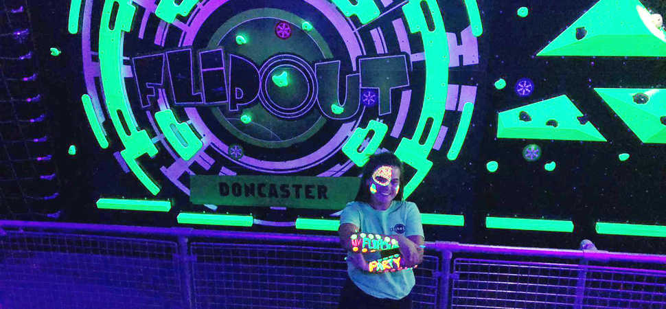 Ultra-Violet Saturday night fever at Flip Out Doncaster