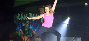 Olympic champion jumps for joy at Flip Out Chichester opening