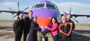 Spot Flybe's 'Love Plane' over the Manchester skies