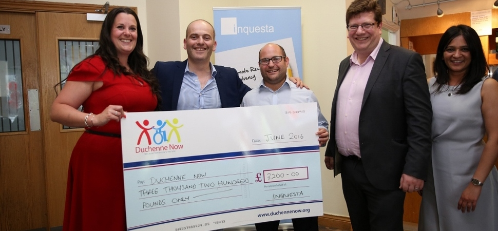 Football fans raise £3,200 for charity at Inquesta event