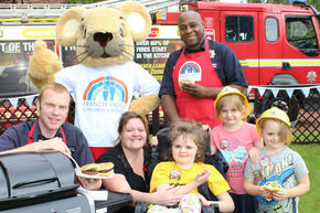 Firefighters Help Launch Francis House Children's Hospice Big BBQ Fundraiser