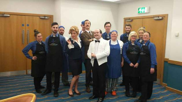 Carringtons Catering offer guests a Fawlty Towers dining experience