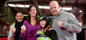 Sovini Trade Supplies donate kit to Liverpool junior kickboxing champ