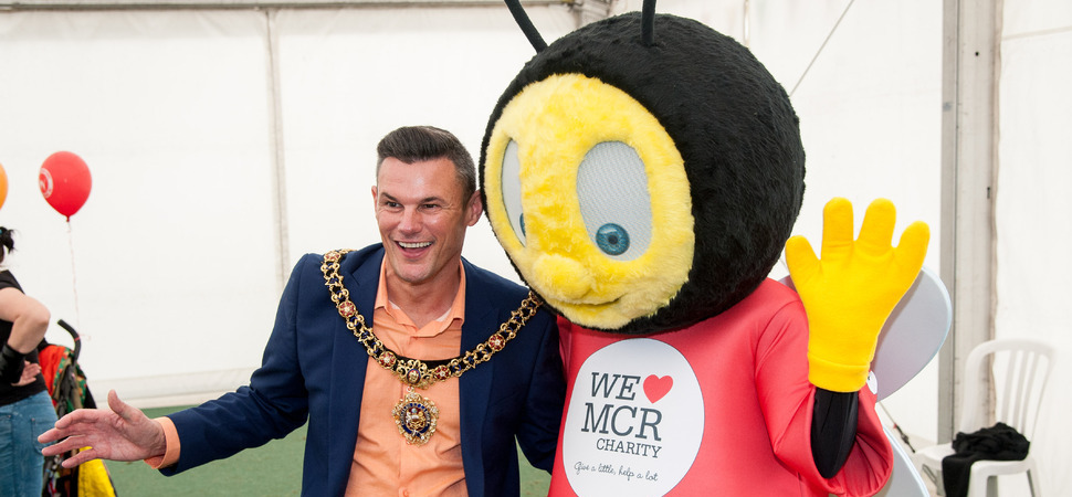 Manchester is buzzing with the unveil of charitys new mascot