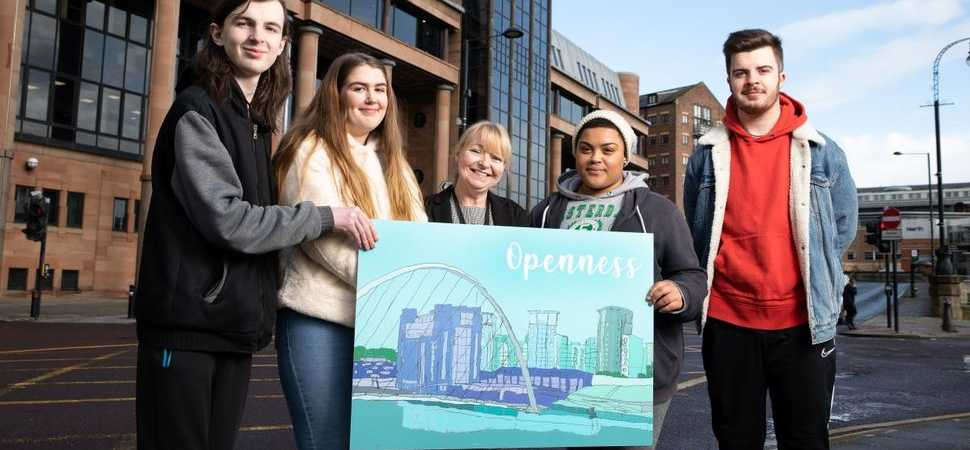 Student artwork transforms suite within Newcastle Combined Court