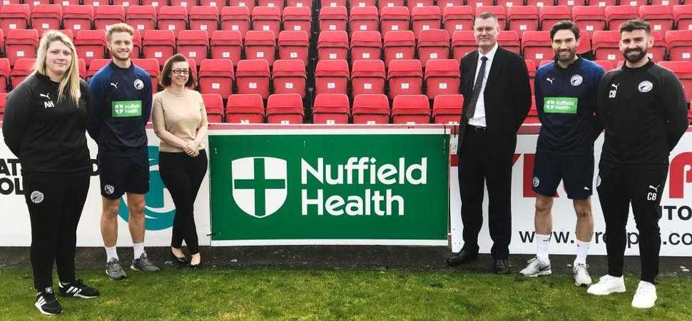 Gateshead Football Club extends partnership with Nuffield Health Newcastle Hospital