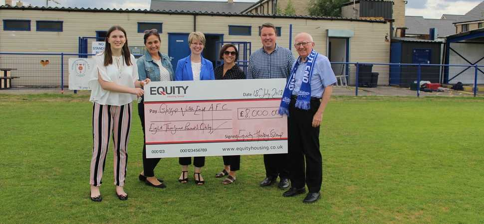 Equity Housing scores with donation to local football club