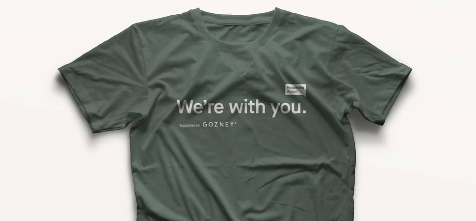 Gozney Launches T-Shirt to Show Support for UK Hospitality Industry